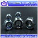 Écrou de blocage en nylon Hex de garniture intérieure de l'acier inoxydable DIN985