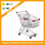 Chariot de chariot à achats en métal avec des roues de qualité