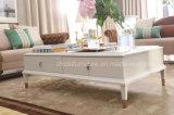 Mesa de centro redonda de la sala de estar de madera sólida (RT1502-61)