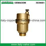 Le laiton personnalisé de qualité a modifié le robinet à tournant sphérique d'évent (IC-3008)