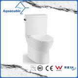 Tocador de cerámica del armario de dos piezas de Siphonic del cuarto de baño (AT1010)