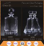 Súper calidad cristalina decantadores Brandy con tapón de cristal