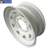 "16 "" Dia x 6inch-8stud White Trailer Steel Wheel Rims для Северной Америки Market"