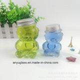 Vaso di vetro del mini miele sveglio del panda con il coperchio