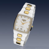 Reloj de cerámica unisex con el vidrio mineral