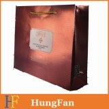 Kundenspezifisches Firmenzeichen-LuxuxpapierEinkaufstasche mit UVdrucken,