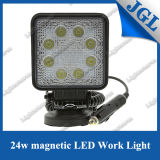 "SuperBright New 4 "" 24W Magnet Work Light 9-32V LED Work Lamp 6500k 4X4 ATV Tractor Train Bus Spot/Flood Beam LED Driving Light"