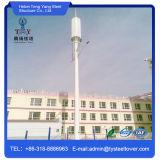 Sola torre galvanizada acero del tubo para las telecomunicaciones