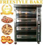 16 Tellersegment-Gas-Plattform-Pizza-Ofen mit Dampf und Stein (JM-416Q)