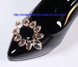 Decoração acrílica da flor da curvatura da sapata para a sapata das mulheres