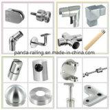 De de de regelbare Steun van de Leuning/Steun van de Balustrade van het Roestvrij staal/Montage van het Glas