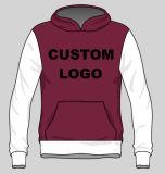 Stampa su ordinazione o maglietta felpata Hoodie del cotone di marchio e di disegno del ricamo