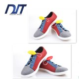 Los cordones de zapato luminosos brillantes del deporte LED del color pueden ser OEM