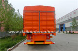 semi-remorque du pieu 3-Axle/frontière de sécurité dans l'orange de couleur avec la frontière de sécurité 2-Tier