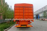 3-Axle Stake/Fence Semi Trailer in Color Orange mit 2-Tier Fence