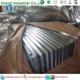 직류 전기를 통하는 물결 모양 금속 강철판을 지붕을 달기