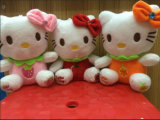 Giocattolo della peluche del gattino farcito personaggio dei cartoni animati molle sveglio del giocattolo dei capretti ciao