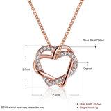 De hete Halsband van de Diamant van de Tegenhanger van het Hart van de Juwelen van de Manier van de Verkoop 18k nam Gouden en Gouden Halsband toe