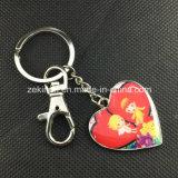 顧客用中心の形の印刷の金属Keychain