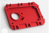Parte d'anodizzazione della macchina utensile di CNC del pezzo meccanico di colore rosso su ordinazione dell'OEM
