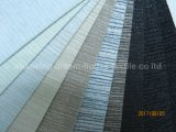 Flama branca impermeável tecida matéria têxtil do revestimento do poliéster - tela retardadora da cortina do escurecimento para a máscara do indicador ou da porta