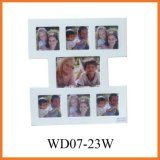 Белая Multi рамка фотоего MDF коллажа (WD07-23W)