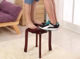 كرسيّ مختبر صلبة خشبيّة مستديرة ([م-إكس2110])
