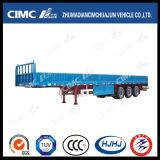 Sales caliente Cimc Huajun 3axle Fence Semi Trailer con 40-80tons Capacity