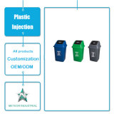 カスタマイズされたプラスチック製品の屋外の産業ごみ箱のプラスチック不用な大箱の注入型