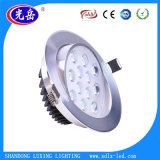 12W luz de techo del aluminio LED Downlight LED