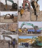 Déferlante hydraulique montée par excavatrice