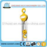 Tipo HS-J 2 Ton Manual Bloque de cadena de la cadena del polipasto