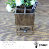 Hongdao kundenspezifischer hölzerner Feder-Halter mit Teilern und Fach Wholesale_L