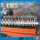 Fester Plastikgummi/überschüssiger Stahl/Reifen/zweiachsige Welle/industrielle hölzerne Reißwolf-Maschine
