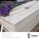 Rectángulo de madera de desplazamiento de encargo del vino de la tapa de Hongdao con las cuerdas Wholesale_L