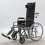 Manual de acero, cómodo funcional de descanso, sillón de ruedas, (YJ-011E)