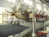 Pipe ondulée de double mur du PE pp faisant la machine/extrusion rayer (200-800mm)