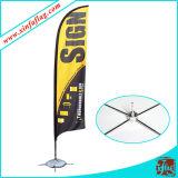 屋外の表示羽のフラグの旗の広告