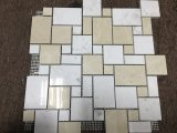 Beige e White Marble Mosaic Tile