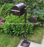 Hand-Made Garden Decoração Letter Box Rusty Metal Iron Mail Box