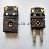 Norma de color negra/mini conector de termocople (tipo J)