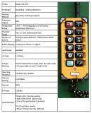 F23-a++ 8 Geschwindigkeits-drahtloser Hebevorrichtung-Kran des Kanal-1 Fernsteuerungs
