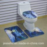 Form-Entwurfs-Toilette und Bad druckten Matten-Set des Badezimmer-3piece