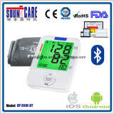 De 3-kleur Backlit Digital Arm Sphygmomanometer van Bluetooth (BP 80JH-BT)