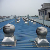 Gruppo di lavoro chiaro della struttura d'acciaio con il ventilatore sul tetto