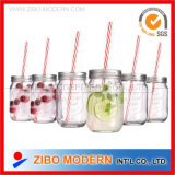 16oz al por mayor Glass Mason Jars con Straw Lid