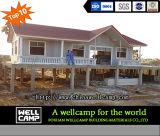 Chalet ligero de lujo de la casa prefabricada del chalet de la estructura de acero de la venta caliente