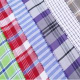 ポリエステル綿の糸の染められた縞の服ファブリック