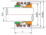 De Verbinding van de pomp, Mechanische Verbinding, de RubberVerbinding van de Blaasbalg voor Pompen & Motoren (MG1)