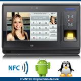 Système biométrique de service de temps de contrôle d'accès d'empreinte digitale d'IDENTIFICATION RF de TCP/IP de produit de garantie